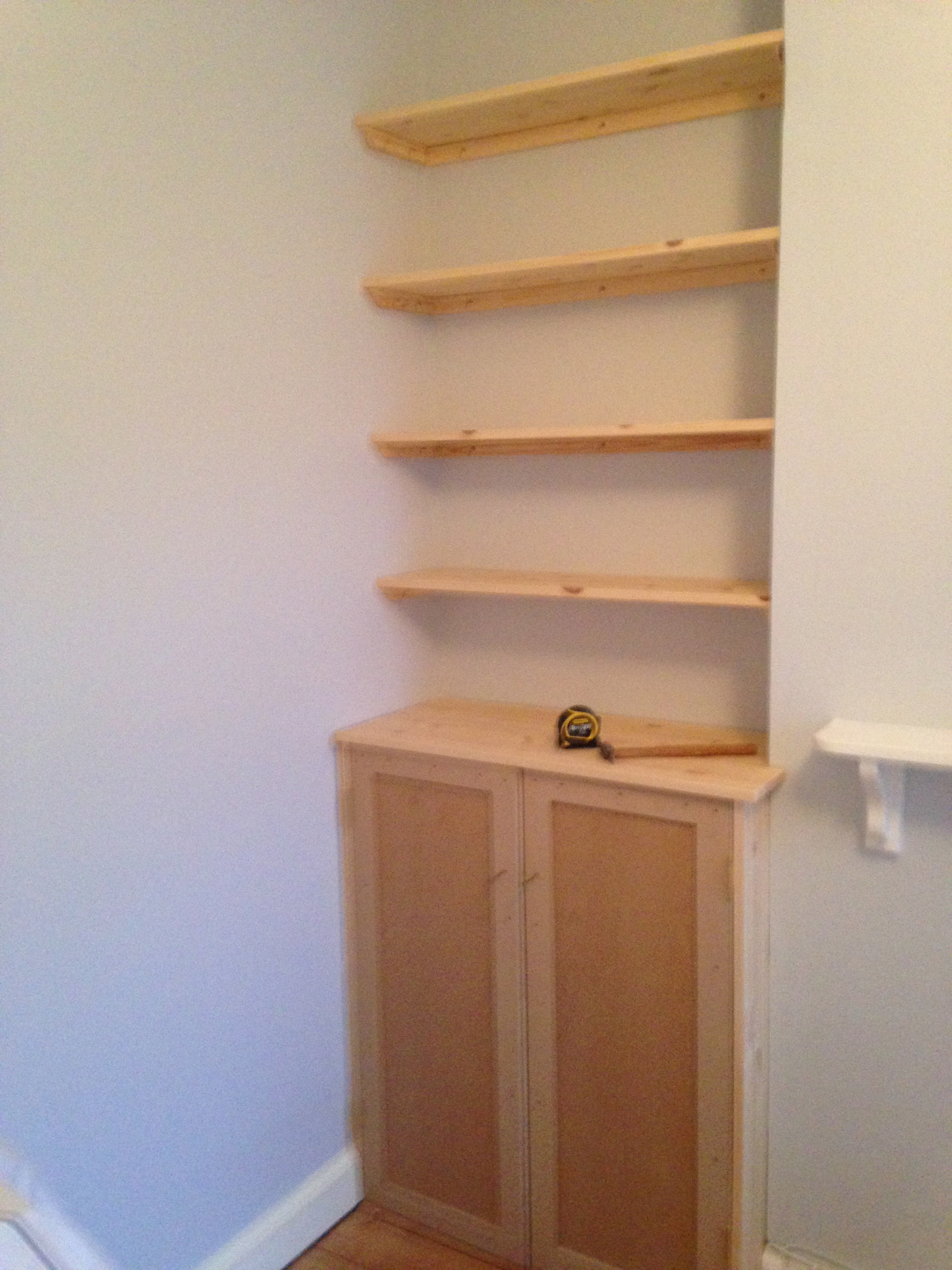 Fitted shelving, cupboards and flooring - P D Carpentry ...